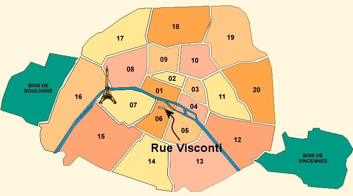 Amin gitu loh plan des arrondissements de paris for Agence immobiliere 6eme arrondissement paris